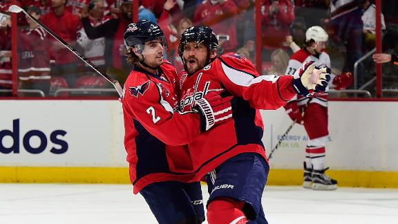 Ovechkin scores 50th as Capitals calm Canes