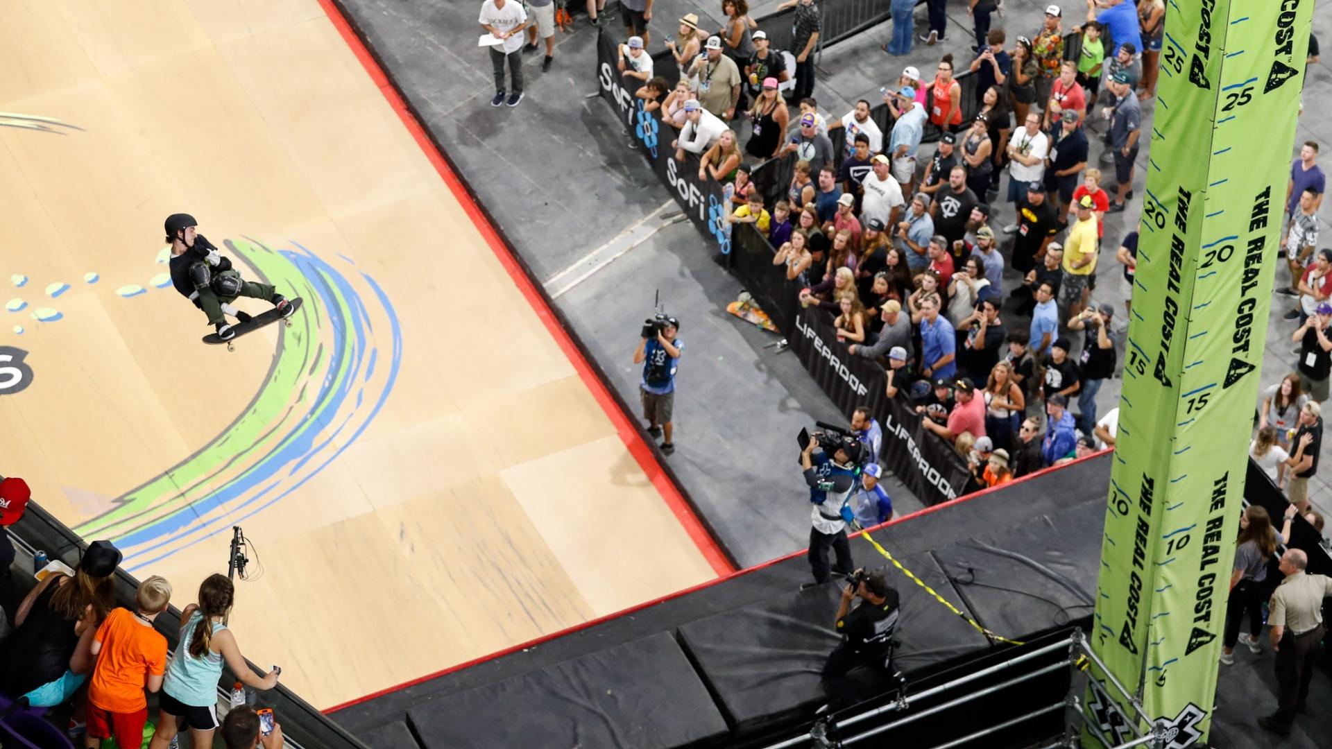 Mitchie Brusco Wins X Games Skateboard Big Air Gold Watch Espn
