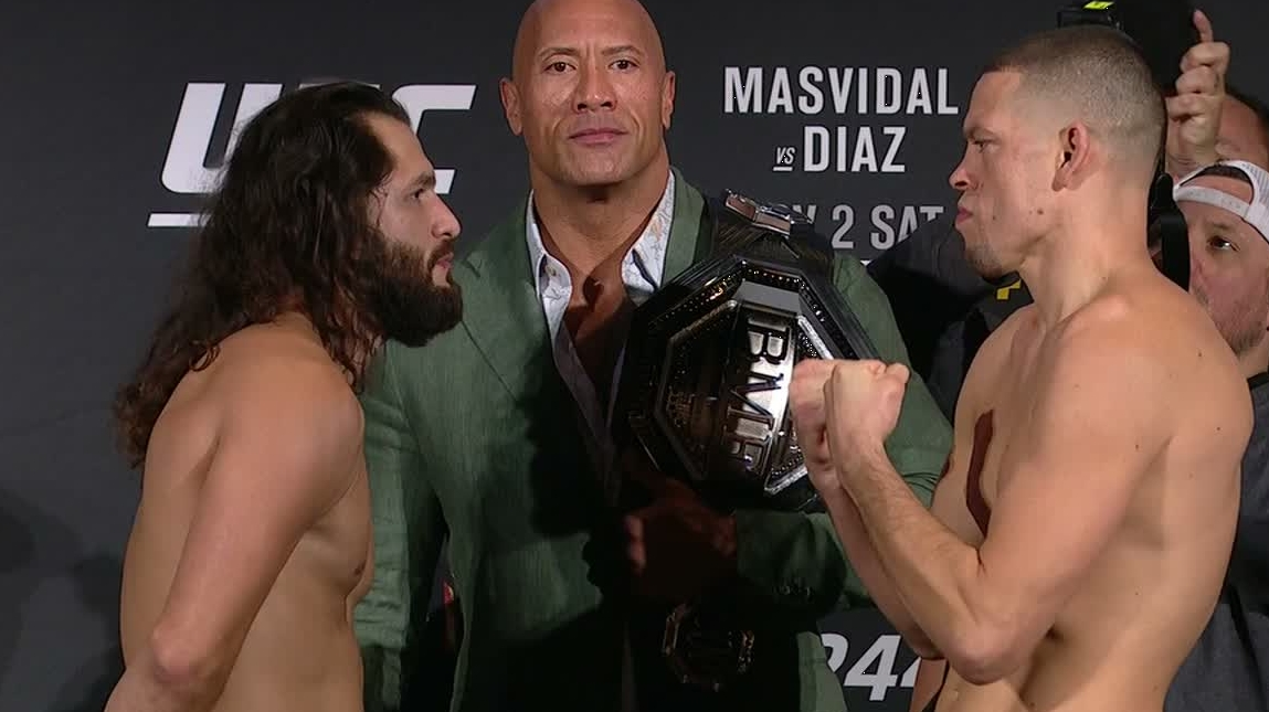 Diaz Masvidal Go Face To Face For Final Time Before Fight Watchespn